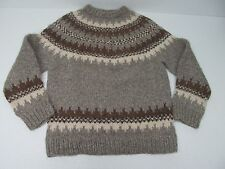 ANTARTEX HAND KNITTED IN SCOTLAND PURE SHETLAND WOOL CREWNECK SWEATER Sz MENS M