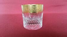 Glas Bleikristall - Stamper Schnaps 5,5cm  Waffelschliff  Goldband Mintonborde