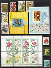 FLOWERS Thematic Stamp Collection MINT USED Ref:TS153