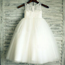 HOT Lace Tulle Flower Girl Dress Wedding Children Easter Bridesmaid Communion
