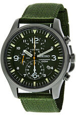 SEIKO SNDA27P1,Men's CHRONOGRAPH,Military,STAINLESS STEEL CASE,100m WR,SNDA27