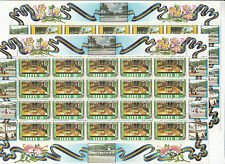 Stamps Nauru 1983 Independence 15th year set of 4 in complete sheets of 20, Muh