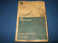 CAT CATERPILLAR 926 WHEEL LOADER PARTS BOOK MANUAL S/N 94Z1-UP