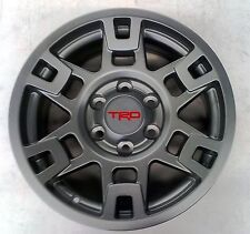 "Toyota 4Runner 1984 - 2016 TRD Pro SEMA 17"" MATTE GRAY Alloy Rims Set - OEM NEW!"
