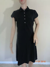 Tommy Hilfiger Women's Black Sleeveless Polo T Shirt  Dress Size M