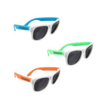 144 Personalized Neon White Frame Sunglasses, Custom Bulk Wedding & Party Favors