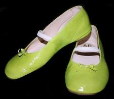 PEPE Girls Italian Leather Ballet Flats Shoes Lime Green ~ 32 Euro 1 US NWD nb