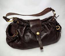 Orig. HOGAN by TOD'S Bohemian Hobo Bag * Handtasche * Schlangenleder braun TODS