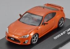 1/43 2012 TOYOTA 86 GT LIMITED COUPE IN ORANGE METALLIC KYOSHO J COLLECTION