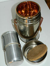 vintage BOUTEILLE THERMOS ISAL Vacuum Flask MILITAIRE camping QUART cantine