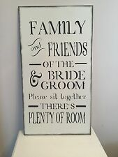 Wedding Wooden Seating Sign Shabby Chic Vintage Church Reception Decoration