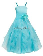 Flower Girl Princess Dress Kids Party Pageant Wedding Bridesmaid Gown Dresses 8