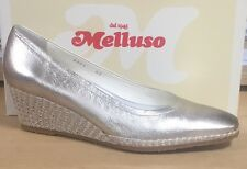 MELLUSO SCARPE DONNA, DECOLTE' CON ZEPPA IN MORBIDA PELLE COLOR ORO #OCCASIONE