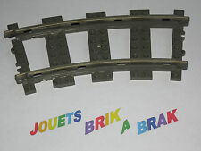 lego Train track curve rail courbe 9v color DARK GRAY ref 2867