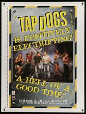 "TAP DOGS ORIGINAL BROADWAY PLAY THEATRE DISPLAY BANNER POSTER 37"" x 50"""