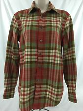 Ralph Lauren Women's Light Flanel Plaid Button Down Shirt Size 4