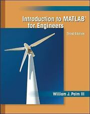 Introduction To MATLAB For Engineers Third Edition William J. Palm III Book