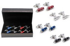 Fountain Pens and Quill 4 Pairs Cufflinks Wedding Fancy Gift Box Free Ship USA