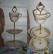 3 TIER PASTRY CAKE PLATE STAND DISPLAY JOHNSON BROS OLD ENGLISH FLORAL
