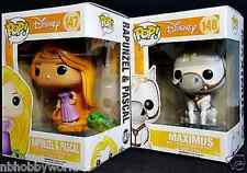 FUNKO POP Tangled Complete Set RAPUNZEL & PASCAL & MAXIMUS DISNEY Vinyl Figure