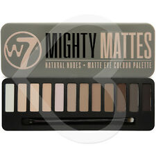 W7 Mighty Mattes Natural Buff Beige Smokey Nude Matte Eye Shadow Palette