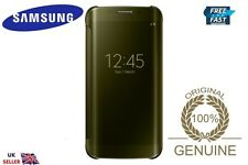 Genuine Samsung Galaxy S6/SM-G925 Original Clear View EDGE Caja Oro