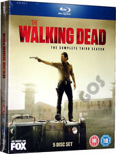 The Walking Dead Complete Third Season Blu-Ray Horror TV Series 3 New Sealed