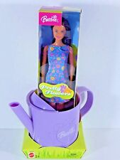 NIB BARBIE DOLL 2003 PRETTY FLOWERS WATERING CAN  OUR STORE!! OVER 1,000 DOLLS