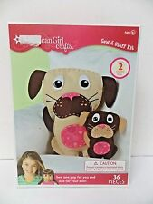 American Girl Crafts Sew & Stuff Kit Stuffed Dogs New