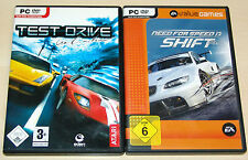 2 PC SPIELE SET - TEST DRIVE UNLIMITED & NEED FOR SPEED SHIFT