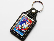SONIC THE HEDGEHOG 3 Sega Mega Drive Cover Art Quality Chrome & Leather Keyring