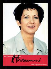 Barbara Prammer Autogrammkarte Original Signiert Politik +4327