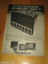 MINERVA GAMMA TV TELEVISORE=ANNO 1973=PUBBLICITA=ADVERTISING=