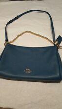 Coach Pebble Leather Carrie Crossbody Shoulder Bag Atlantic teal  F36666