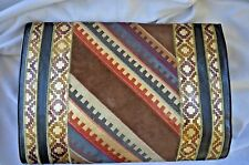 Vintage Leather Colorful Aztec Clutch designed by Sara Whyte Numbered 16 of 200