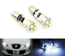 2x 233 BA9s T4W 8 LED Light White Interior Number Plate Sidelight Bulb 5W DRL
