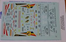 Microscale Decal 1:72 Scale #MS72-814 / A/D Black Tail Tomcats: VBF-154, VF-31 &