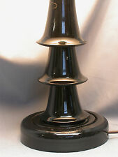 "MINI- 3 BELL CLARINET LAMP ON BLACK GLOSS ROUND BASE  - UNIQUE ""A LOOKER"""
