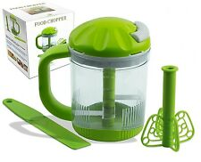 PremiumFoodTech Manual Food Chopper and Salad Chopper, Hand Powered Spinner,