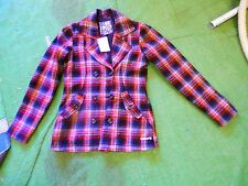 Billa Bong The Nines red & black plaid jacket coat size XL billabong