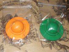 VINTAGE 80'S SET OF 2 SUMMER BONNET ERASERS GREEN & ORANGE