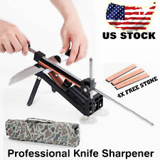 Professional Kitchen Knife Fix-angle Sharpener Sharpening Tool System 4 Stones