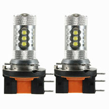 2PZ LAMPADA H15 LED 80W 16 XBD XENON DAYTIME RUNNING LAMP BULB DRL AUTO WHITE