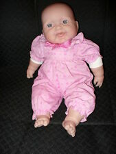 "13"" REALISTIC OPEN MOUTH LAUGHING  BABY  DOLL, ORIGINAL PINK SLEEPER - BERENGUER"