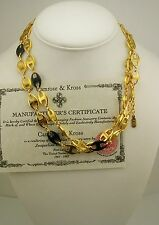 Jackie Kennedy Enameled Anchor Link Necklace (comes w/ original box/certificate)