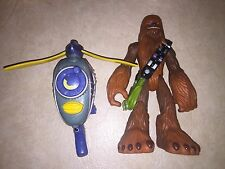 Star Wars Playskool Jedi Force  CHEWBACCA w/Wookie Scout Flyer 2004