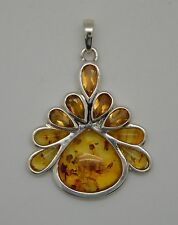 "Barse Jewelry Sterling Silver, Amber and Citrine ""Heirloom"" Pendant"