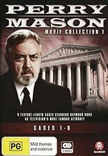 PERRY MASON : MOVIE COLLECTION 1 (Cases 1-6) DVD -  UK Compatible -Sealed