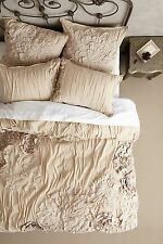 �� SUPER CUTE �� Anthropologie GEORGINA Twin Duvet Cover sand beige cotton