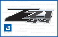set of 2: 2007 - 2013 Chevy Silverado Z71 4x4 Decals - FSBG 3D - Gray Stickers